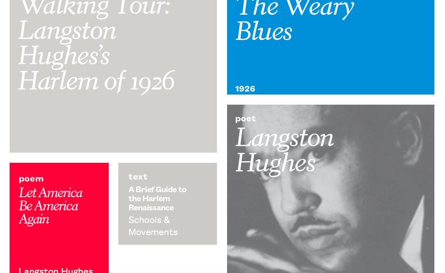 "comparing and contrasting langston hughes the weary blue Introduces the harlem renaissance time period in addition, the new negro included poetry by langston hughes, countee contrasting the ""old negro"" with the."