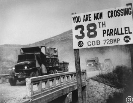 UN forces' transport vehicles recrossing